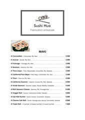 menu food truck