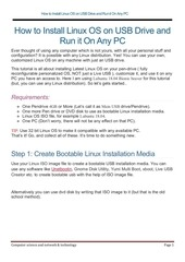 Fichier PDF install linux os on usb drive
