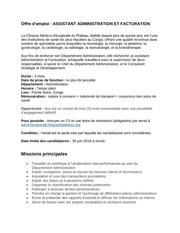 job descript assist admin