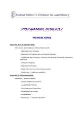 programme 2018 2019