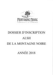dossier inscirption alsh 2018