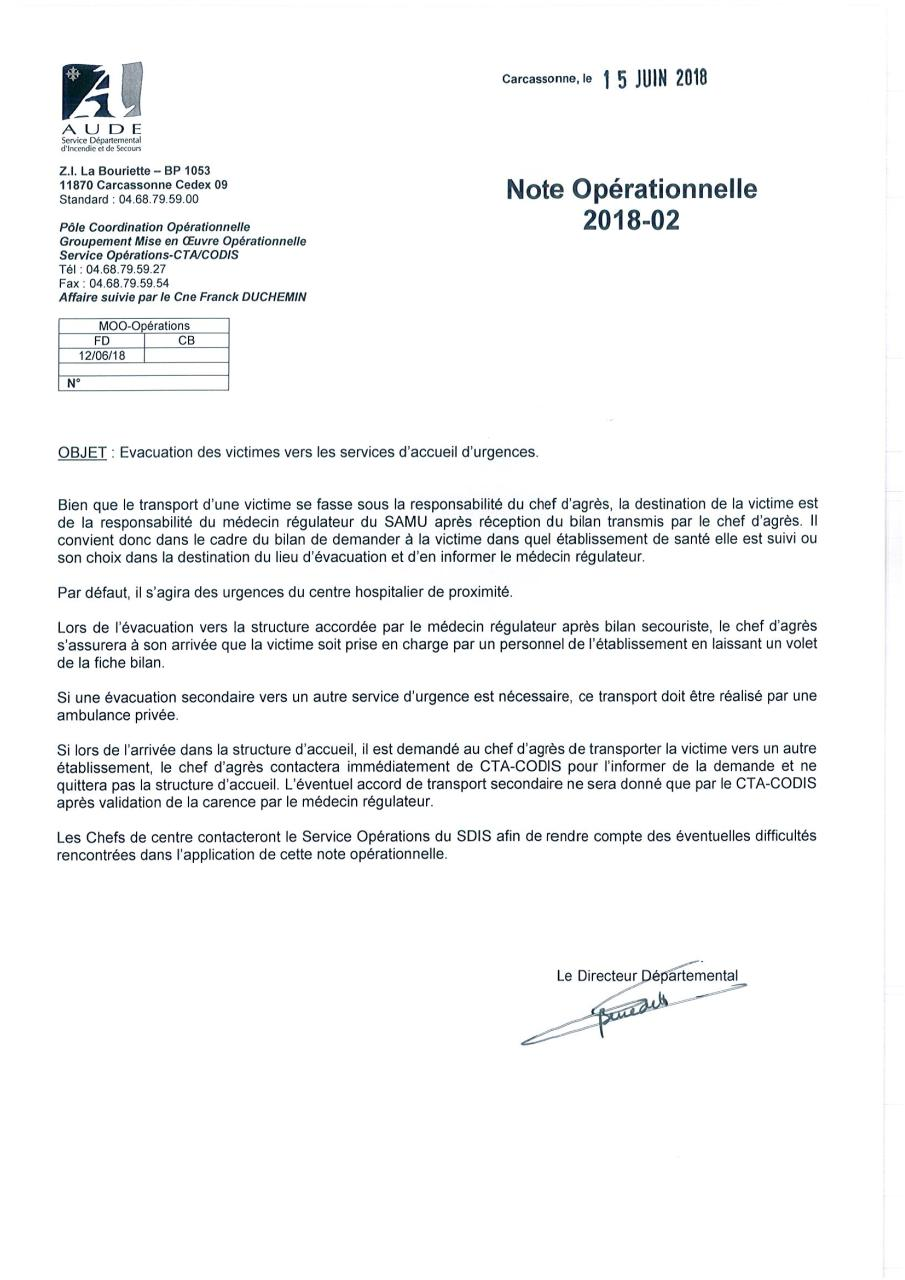 Aperçu du document NOTE OPS 2018-02-EVACUATION VICTIME-SIGNE.pdf - page 1/1