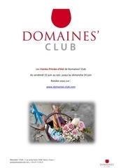catalogue vp domaines club