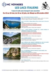 les lacs italiens sans transport sans excursion