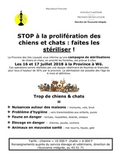 information sterilisations lifou 201819792