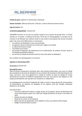 annonce recrutement ingenieur electronique embarquee