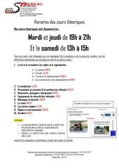 Fichier PDF 5 14 affiche des horaires de cours theoriques