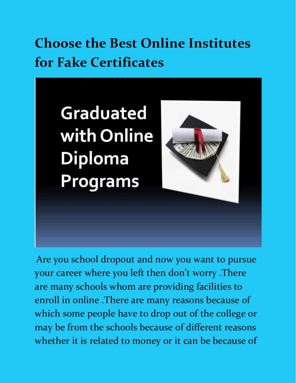 Best Online Institutes for Fake Certificates.pdf - page 1/8