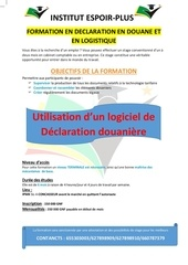 formation en declaration en douane et logistique