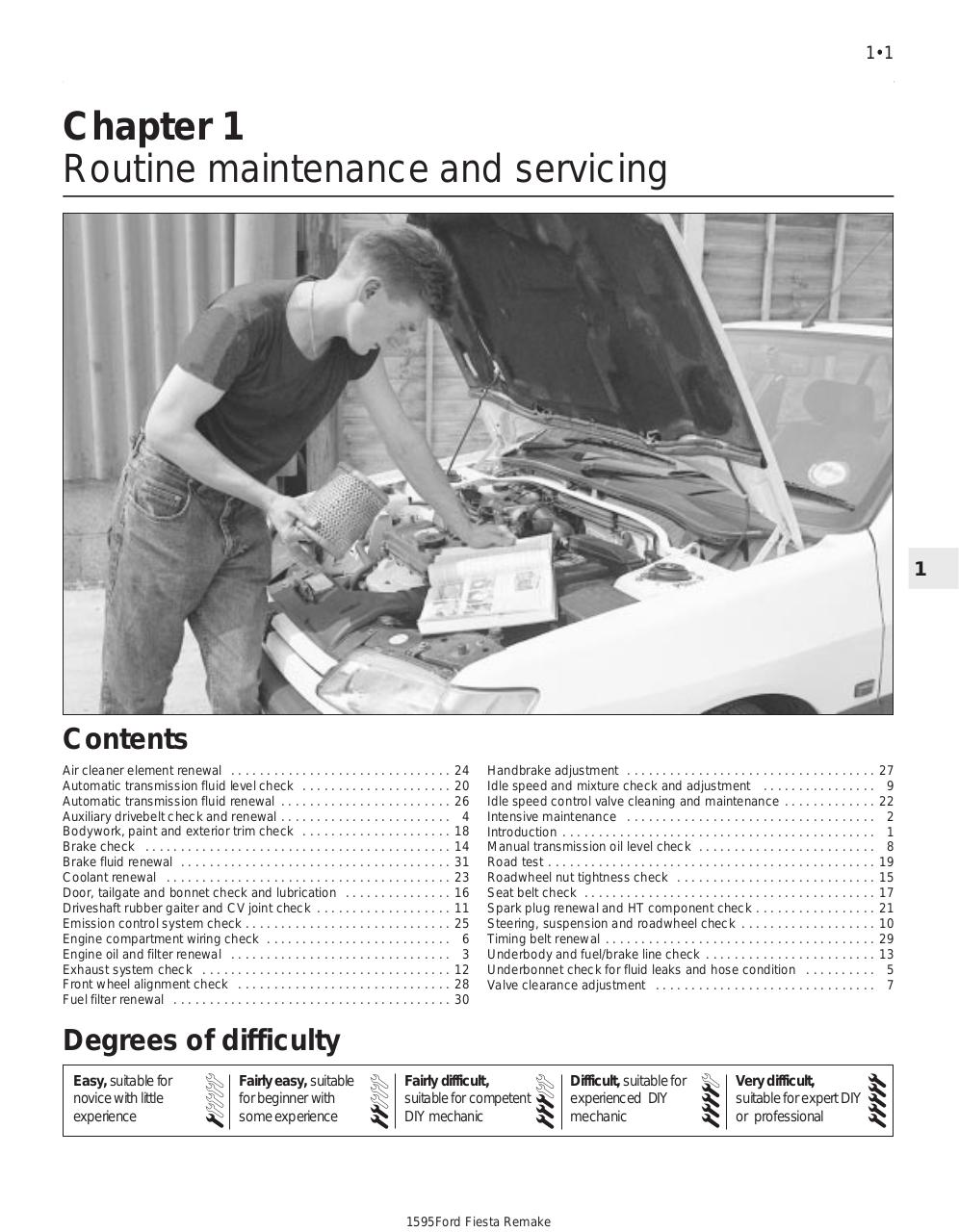 Haynes Repair Manual Ford Fiesta Mk3 - Fichier PDF