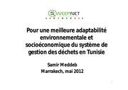pour une meilleure gestion des dechets en tunisie samir meddeb