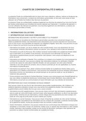 charte de confidentialite   amelia
