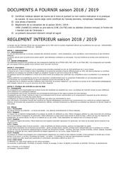 reglement interieur 20182019