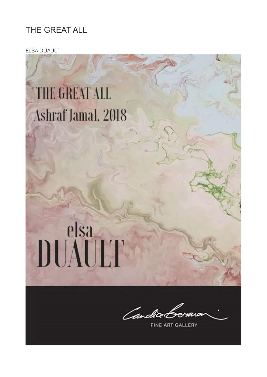 Aperçu du document Publication Duault, Ashraf Jamal 2018, The Great All, Fluid Art critic  .pdf - page 1/4
