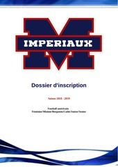 imperiaux dossier dinscription 2018 2019