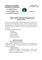 appel a candidature master en sciences de leducation 2018 2019