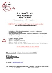 dossier inscription larodde 2018