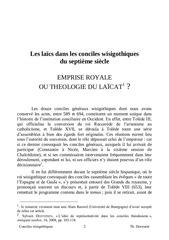th deswarte  les laics dans les conciles wisigothique