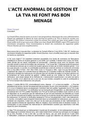 Fichier PDF lacte anormal de gestion et la tva ne font pas bon menage