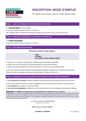 dossier inscription cned