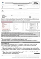 formulaire licence