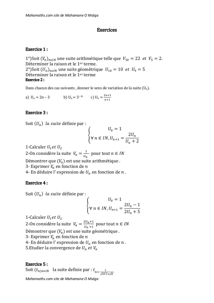 Exercices-Suites.pdf - page 1/12