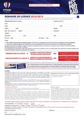 dossier inscription adulte 2018 2019