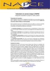 fiche de mission volontariat service civique napce11