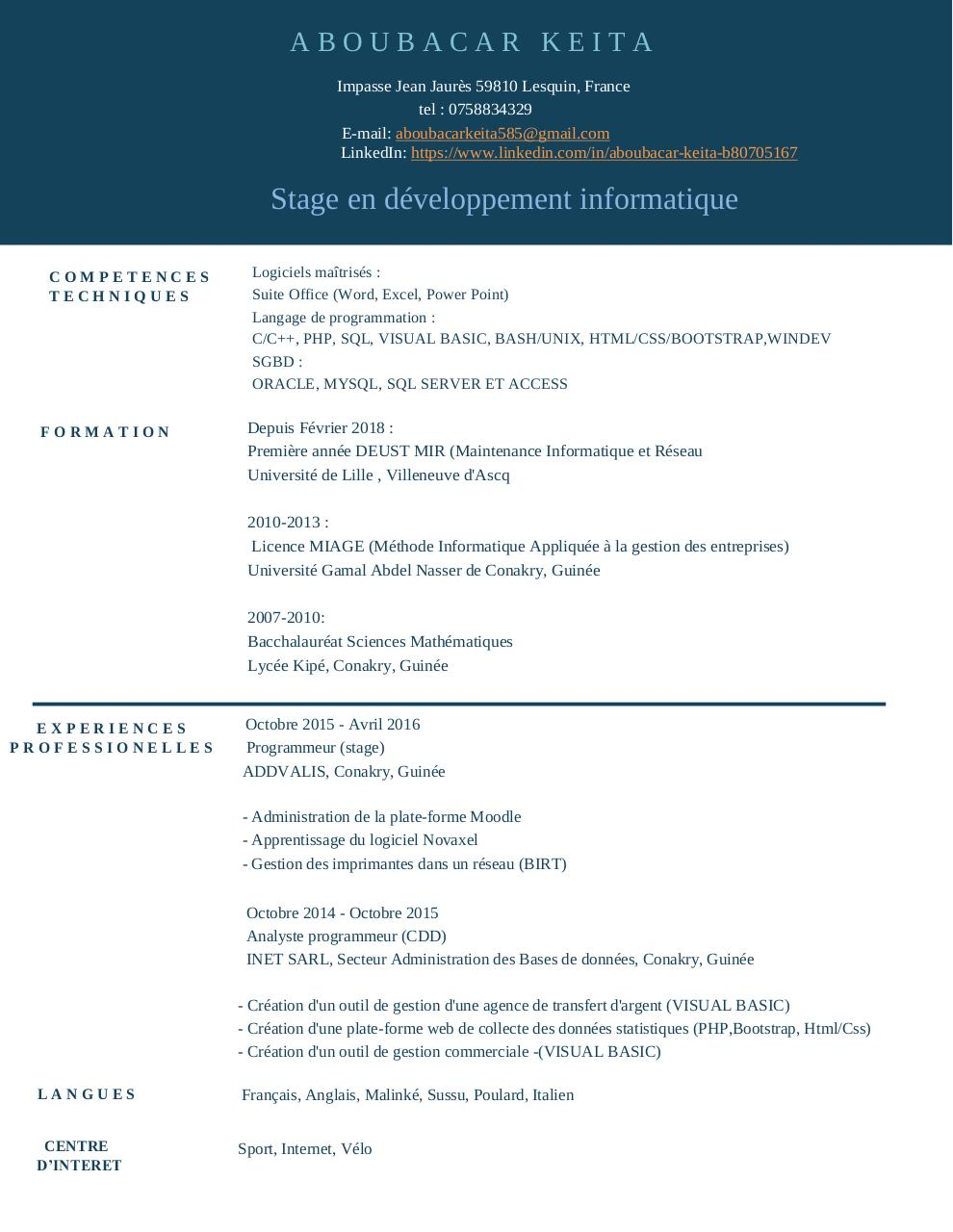 Aperçu du document cv_aboubacar.pdf - page 1/1