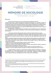 resume du memoire de sociologie