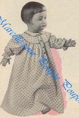 1955 04 francoise en robe de nuit