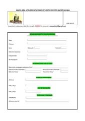 Fichier PDF formulaire de participation maya sira2018