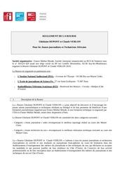 reglement de la bourse gdupont et c verlon2018vdef