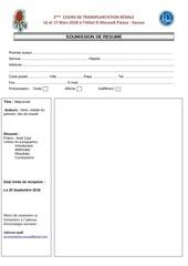 Fichier PDF formulaire resume