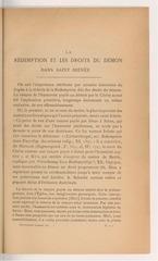 la redemption et les droits du demon dans saint irenee