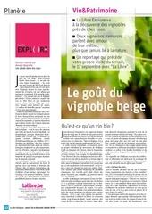 le gout du vignoble belge   la libre   2018 08 25