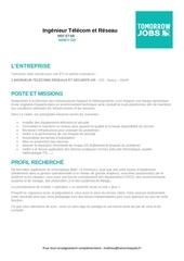 Fichier PDF fiche de poste ingenieur tsr