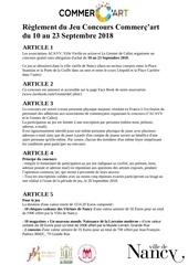 Fichier PDF reglement du jeu concours commercart 2018