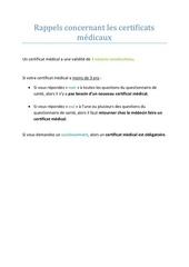 Fichier PDF rappels certificats medicaux   questionnaire de sante