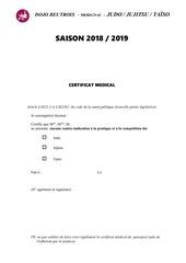 Fichier PDF certificat medical 2018 2019