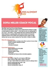 coaching vocal mise a jours next
