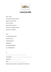 contrat de saillie