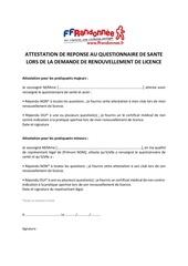 attestation questionnaire sante ffrandonnee
