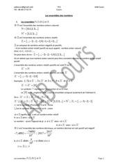chapitre 2  les ensembles des nombres