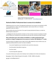 annonce metallerie