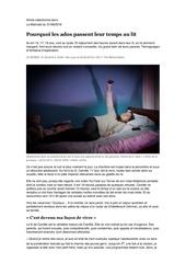 pourquoi les ados passent leur temps au lit