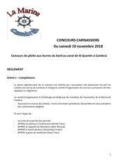 reglementcarnassiers marina 2018