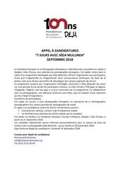 Fichier PDF appel  candidatures