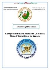 programme mantis night 2018 francais