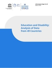 uis education and disability   data from 49 countries